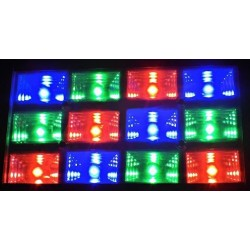 Stroboskop 12x1W LED RGB voice-activated / AUTO - 2