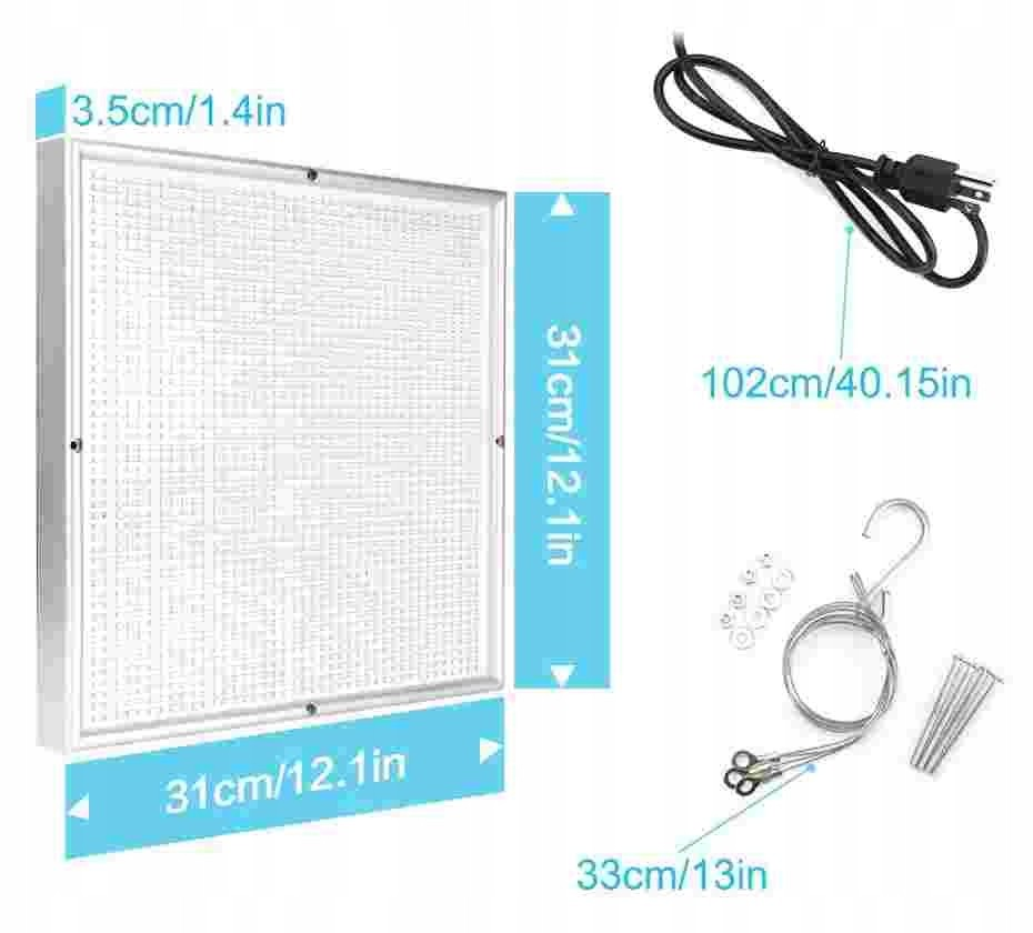 Panel do uprawy roślin GROW LED 200W 2009 LED